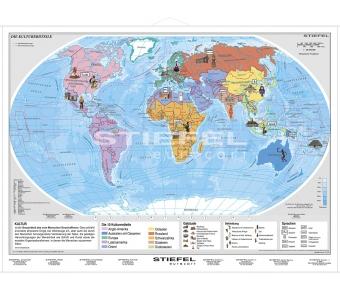 Weltkarte der Kulturerdteile