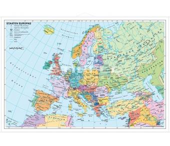 Europakarte politisch - Staaten Europas politisch