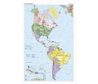 Amerika politisch (Nord und Süd)