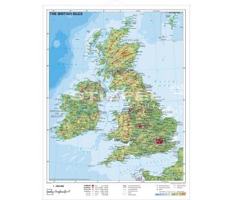 Britische Inseln physisch (englisch)