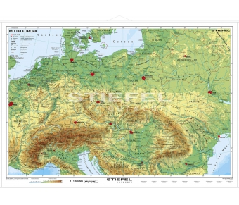 Mitteleuropa physisch