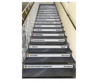 Treppenfolie Bundesländer Deutschlands