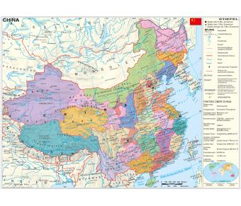 DUO Handkarte China physisch / politisch Set
