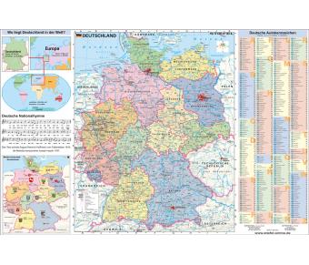 DUO Schreibunterlage Deutschland physisch / politisch mit Basiswissen