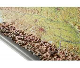 3D-Reliefkarte Deutschland
