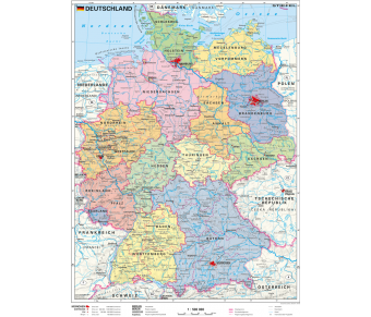 Handkarte Deutschland politisch Set
