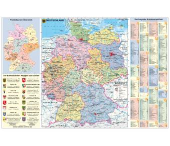 DUO Schreibunterlage Deutschland und Europa mit Autokennzeichen