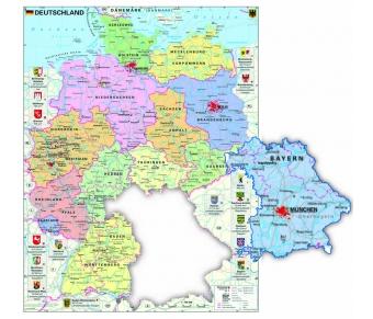 Deutschland politisch XXL-Puzzle magnetisch