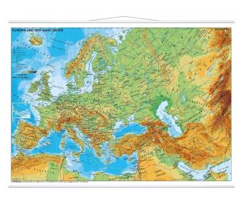 Europa und der Nahe Osten physisch