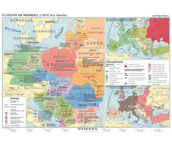 Handkarte Europa 1970 bis 2000 Set