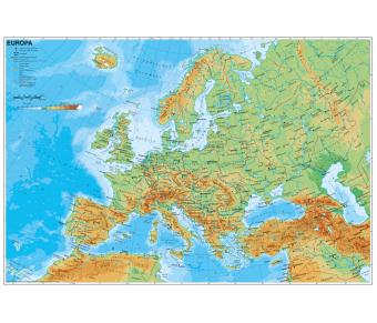 Handkarte Europa physisch Set