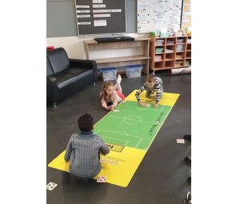 """Bodenmatte """"Wer wird Fußball-Meister?"""""""