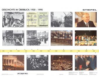 Handkarte Geschichte 1930-1990 Set