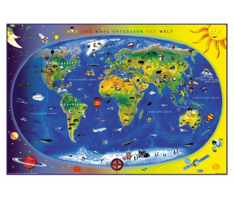 Lernmatte XL Kinderweltkarte
