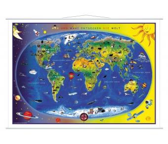 """Bodenmatte """"Kinderweltkarte - Max und Maxi entdecken die Welt"""""""