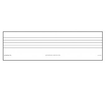 Beschreibbare Tafelfolie Notenlineatur kl. - magnetisch