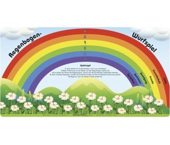 "Bodenmatte ""Regenbogen-Wurfspiel"""
