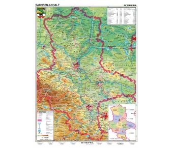 Handkarte Sachsen-Anhalt physisch Set