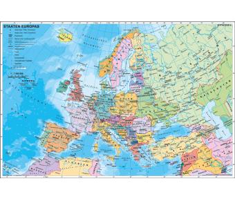 Handkarte Staaten Europas politisch Set