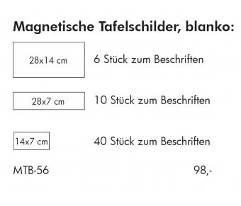 Magnetische Tafelschilder