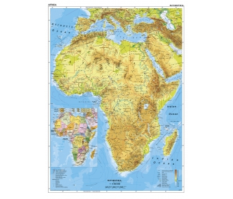 Afrika physisch (englisch)