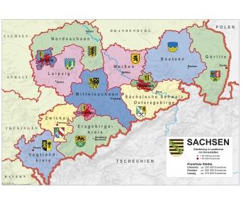 Sachsen politisch XXL-Puzzle magnetisch