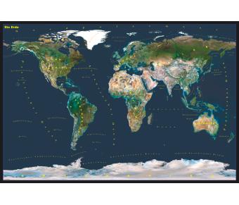 DUO Schreibunterlage Welt Satellitenbild / Europa Satellitenbild