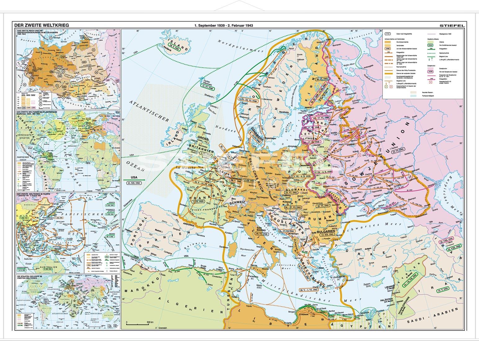 2 Weltkrieg Karte.Der Zweite Weltkrieg Lerndino De
