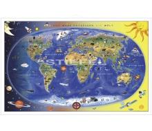 Kinderweltkarte - Max und Maxi entdecken die Welt
