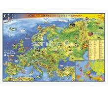 Große Europakarte für Kinder