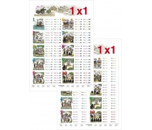 1 x 1 in Bildern - Lernposter Großformat