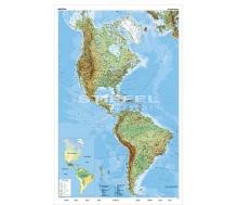 Amerika physisch (Nord und Süd)