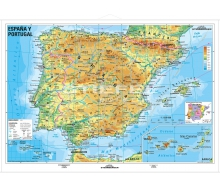 Spanien und Portugal physisch (spanisch)