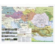 Die Donauländer politisch mit Relief