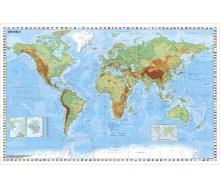 Weltkarte physisch - Poster