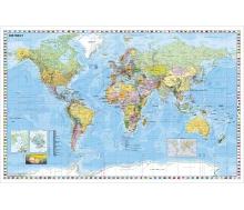 Weltkarte (deutsch) - Poster