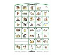 Buchstabenhaus - Lernposter Kleinformat