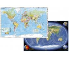 DUO Schreibunterlage Weltkarte (engl.) Erde Panorama (engl.)