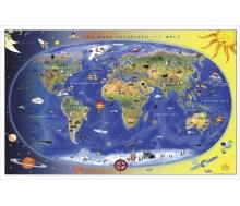 Kinderweltkarte - Max und Maxi entdecken die Welt - Poster