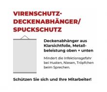 Spuck-Hygiene-Schutz Deckenabhänger