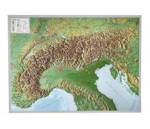 3D-Reliefkarte Alpen