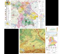 DUO Handkarte Bayern physisch / politisch - 25 Stück