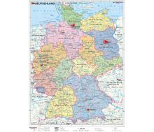 Handkarte Deutschland politisch - 25 Stück