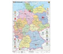 Deutschland politisch mit Wappen auf Wabenplatte zum Pinnen