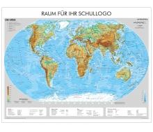 XXL-Brandschutz-Karte Die Erde physisch