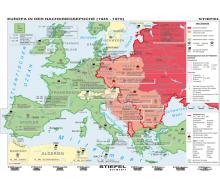 Handkarte Europa 1945 bis 1970 Set