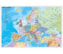 Staaten Europas auf Wabenplatte zum Pinnen