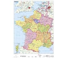 Frankreich politisch XXL-Puzzle magnetisch