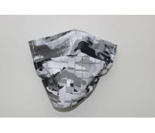 Mund- & Nasenmaske - Camouflage grau