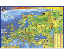 DUO Schreibunterlage Kindereuropakarte / Staaten Europas